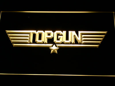 Top Gun LED Neon Sign - Yellow - SafeSpecial