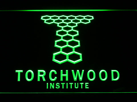 Image of Torchwood Institute LED Neon Sign - Green - SafeSpecial