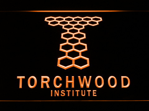 Image of Torchwood Institute LED Neon Sign - Orange - SafeSpecial