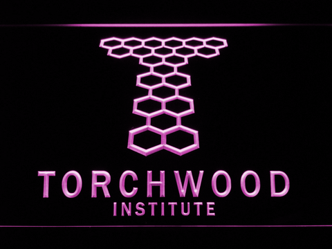 Torchwood Institute LED Neon Sign - Purple - SafeSpecial