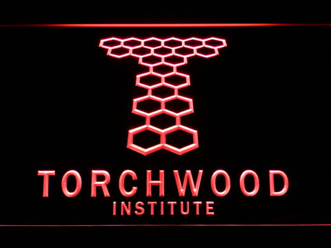 Image of Torchwood Institute LED Neon Sign - Red - SafeSpecial