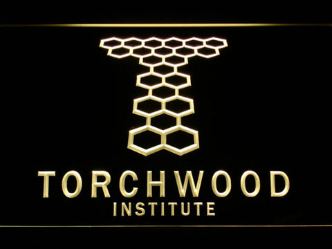 Image of Torchwood Institute LED Neon Sign - Yellow - SafeSpecial