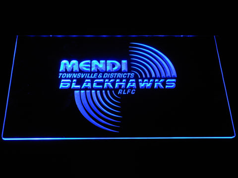 Townsville Blackhawks LED Neon Sign - Blue - SafeSpecial