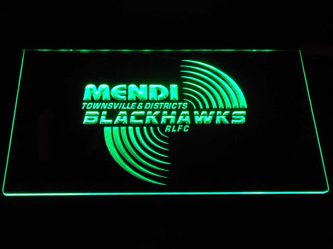 Townsville Blackhawks LED Neon Sign - Green - SafeSpecial