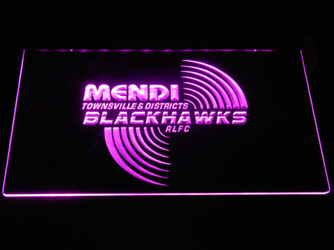 Townsville Blackhawks LED Neon Sign - Purple - SafeSpecial