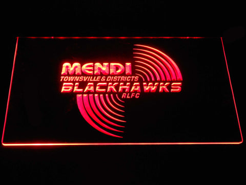Townsville Blackhawks LED Neon Sign - Red - SafeSpecial