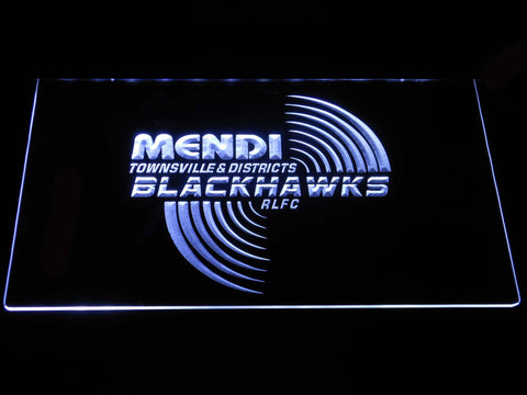 Townsville Blackhawks LED Neon Sign - White - SafeSpecial