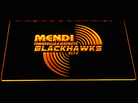 Townsville Blackhawks LED Neon Sign - Yellow - SafeSpecial