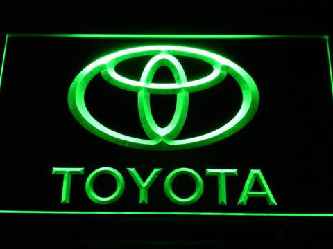 Image of Toyota LED Neon Sign - Green - SafeSpecial