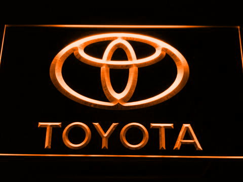 Image of Toyota LED Neon Sign - Orange - SafeSpecial