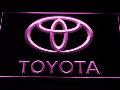 Toyota LED Neon Sign - Purple - SafeSpecial
