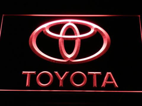 Toyota LED Neon Sign - Red - SafeSpecial