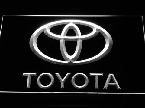 Image of Toyota LED Neon Sign - White - SafeSpecial