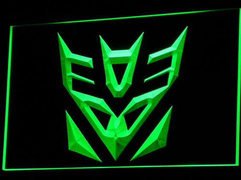 Image of Transformers Decepticons Icon LED Neon Sign - Green - SafeSpecial