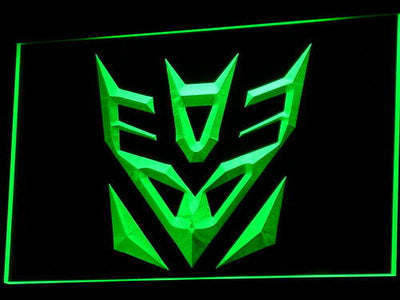 Transformers Decepticons Icon LED Neon Sign - Green - SafeSpecial