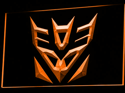 Transformers Decepticons Icon LED Neon Sign - Orange - SafeSpecial