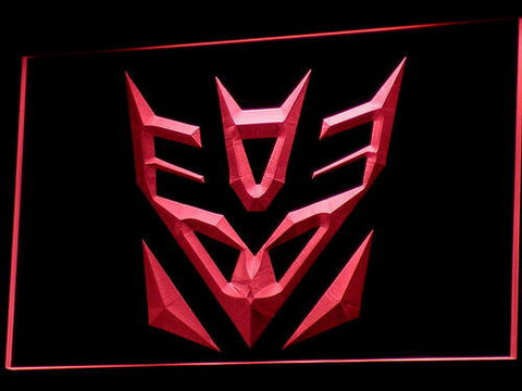 Image of Transformers Decepticons Icon LED Neon Sign - Red - SafeSpecial