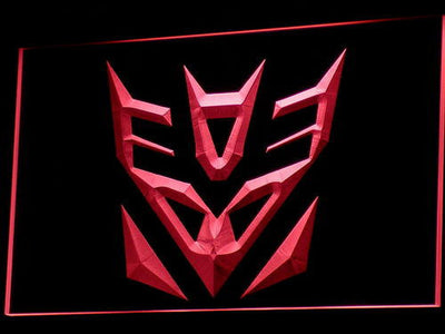 Transformers Decepticons Icon LED Neon Sign - Red - SafeSpecial
