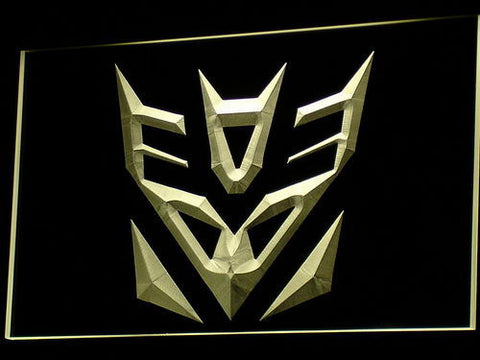 Image of Transformers Decepticons Icon LED Neon Sign - Yellow - SafeSpecial