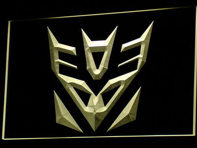 Transformers Decepticons Icon LED Neon Sign - Yellow - SafeSpecial