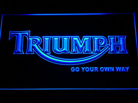 Image of Triumph Go Your Own Way LED Neon Sign - Blue - SafeSpecial