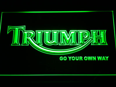 Triumph Go Your Own Way LED Neon Sign - Green - SafeSpecial