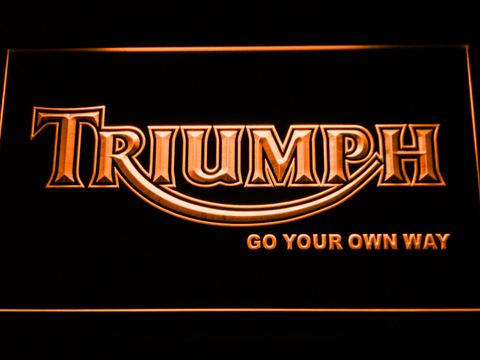 Image of Triumph Go Your Own Way LED Neon Sign - Orange - SafeSpecial