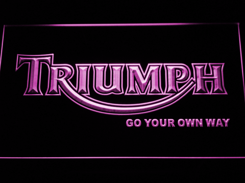 Image of Triumph Go Your Own Way LED Neon Sign - Purple - SafeSpecial