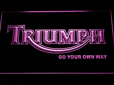 Triumph Go Your Own Way LED Neon Sign - Purple - SafeSpecial