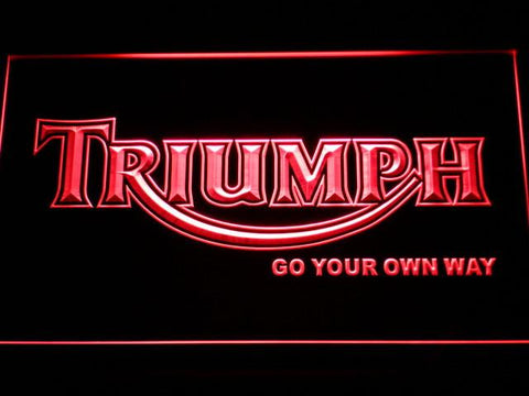 Image of Triumph Go Your Own Way LED Neon Sign - Red - SafeSpecial