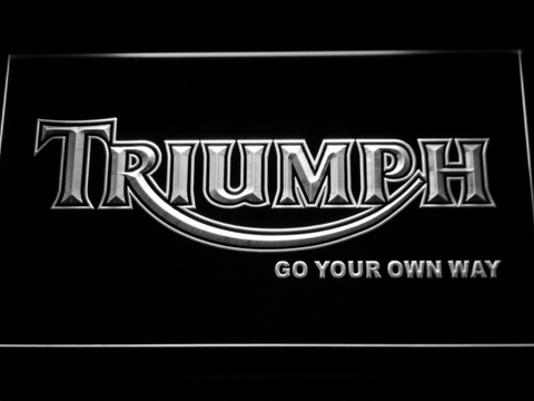 Image of Triumph Go Your Own Way LED Neon Sign - White - SafeSpecial