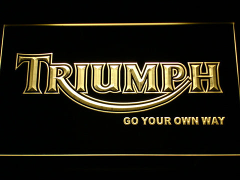 Image of Triumph Go Your Own Way LED Neon Sign - Yellow - SafeSpecial