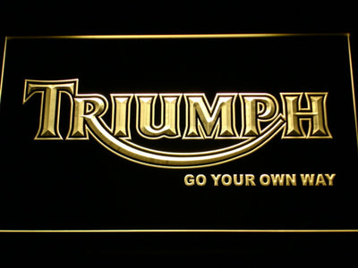 Triumph Go Your Own Way LED Neon Sign - Yellow - SafeSpecial