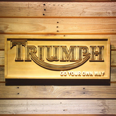 Triumph Go Your Own Way Wooden Sign - Small - SafeSpecial