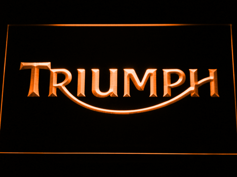 Image of Triumph LED Neon Sign - Orange - SafeSpecial