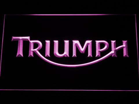 Image of Triumph LED Neon Sign - Purple - SafeSpecial