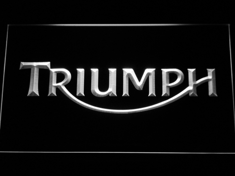 Image of Triumph LED Neon Sign - White - SafeSpecial