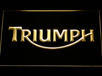 Triumph LED Neon Sign - Yellow - SafeSpecial