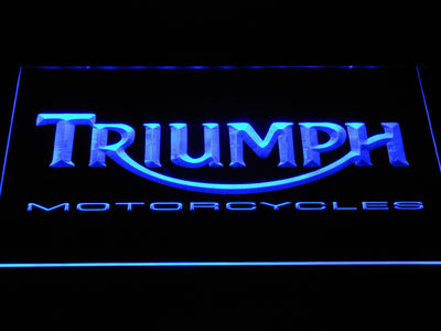 Triumph Motorcycles LED Neon Sign - Blue - SafeSpecial