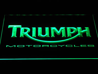 Triumph Motorcycles LED Neon Sign - Green - SafeSpecial