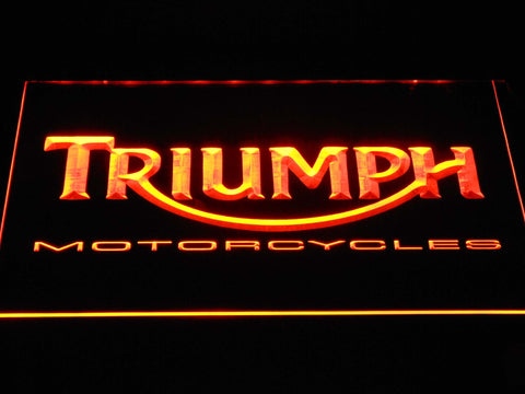 Image of Triumph Motorcycles LED Neon Sign - Orange - SafeSpecial