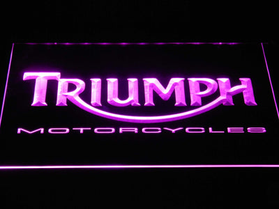 Triumph Motorcycles LED Neon Sign - Purple - SafeSpecial