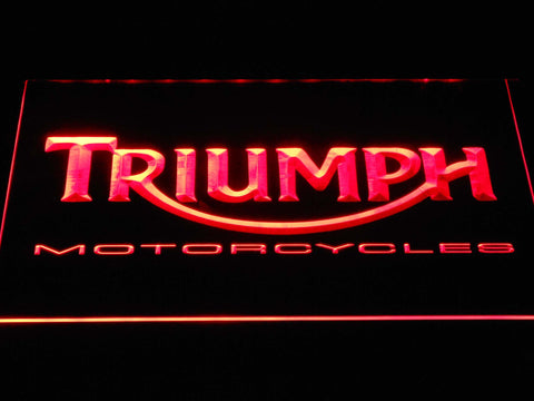 Image of Triumph Motorcycles LED Neon Sign - Red - SafeSpecial