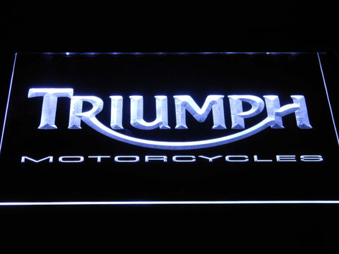 Image of Triumph Motorcycles LED Neon Sign - White - SafeSpecial