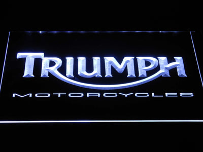 Triumph Motorcycles LED Neon Sign - White - SafeSpecial