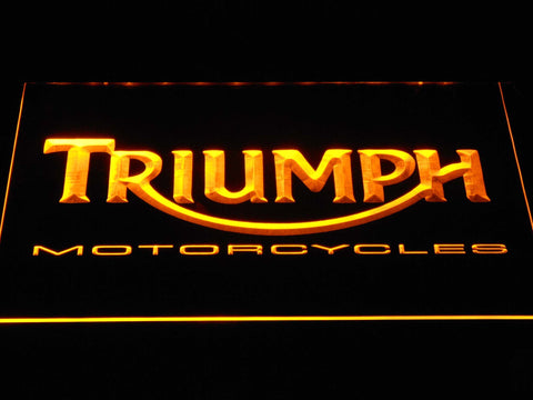 Image of Triumph Motorcycles LED Neon Sign - Yellow - SafeSpecial