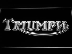 Triumph Old Logo LED Neon Sign - White - SafeSpecial