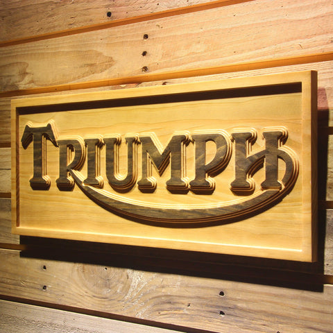 Triumph Old Logo Wooden Sign - - SafeSpecial