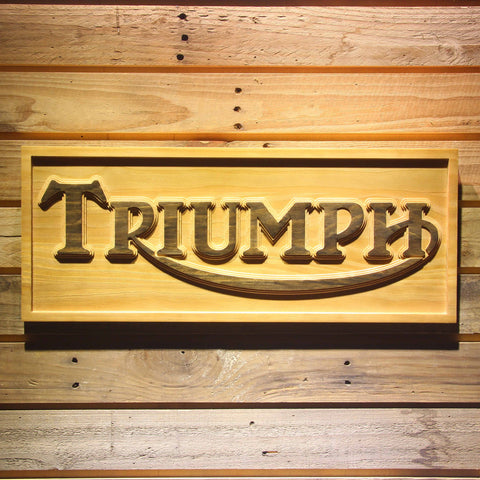 Triumph Old Logo Wooden Sign - Small - SafeSpecial