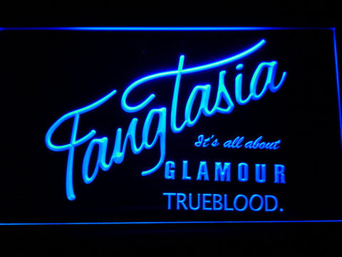 True Blood Fangtasia LED Neon Sign - Blue - SafeSpecial